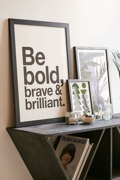 AngelStar Forever Be Bold, Brave & Brilliant Art Print. UrbanOutfitters.com: Awesome stuff for you & your space. Click the link to shop this look!