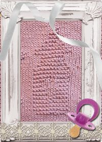 Baby Bottle Knitted Dishcloth