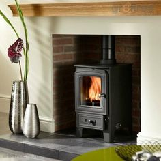 Could a wood-burning stove help to sell your property? Wood Burner Fireplace, Inglenook Fireplace, Fireplace Design, Simple Fireplace, Reclaimed Wood Bed Frame, Old Wood Floors, Small House Decorating, Log Burner, Wood Panel Walls