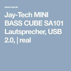 Jay-Tech MINI BASS CUBE SA101 Lautsprecher, USB 2.0, | real