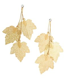Delicate gold foil earrings that will definitely compliment the scenery around…
