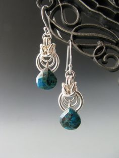 Byzantine Ripple Chain Mail Earrings with by WolfstoneJewelry, $32.00
