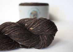 Spinning Yarns Weaving Tales - Tirchonaill 513 Chocolate 100% Merino Laceweight for Knitting, Crochet, Warp & Weft