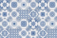 Keeping it light, cool, and alive is very natural and easy when homeowners use the White & Blue Portuguese Tiled Wallpaper.