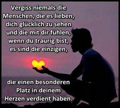 ...vergiss niemals die Menschen....❤❤❗