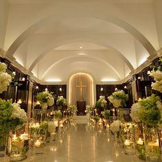 アーセンティア迎賓館(高崎) 結婚式場写真「ヴィクトリアハウスのチャペルはキャンドルを並べて幻想的に♪」 【みんなのウェディング】