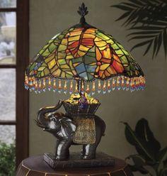 Elephant Beaded Lamp from Midnight Velvet  www.midnightvelvet.com