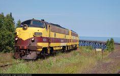 RailPictures.Net Photo: CE 4210 Cliffs Erie Railroad EMD F9(A) at Taconite Harbor, Minnesota by Missabefan