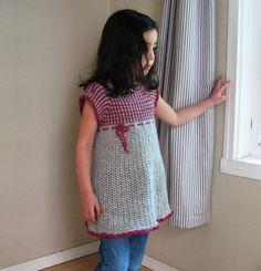 Kids Crochet Dress Pattern PDF by BallHanknSkein on Etsy