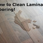 How to Clean Laminate Flooring  -  use I/3 cup vinegar with 2 drops dish detergent in one gallon  water.
