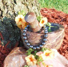 Genuine Vintage Hematite Stretch Bracelet by LunasMagicks on Etsy