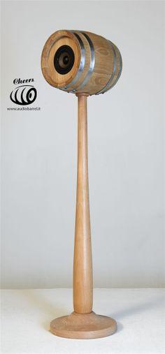 Stand Piedistallo Bat x Cheers 3'' Sour  3L - 50W 8Ω  Cheers è l'innovativo diffusore acustico ad alta fedeltà brevettato © Exend.it #AudioBotti, #AudioBarrel, #BottiAcustiche, #WineSpeakers #HiFi 3, Barrel, Audio, Barrel Roll, Barrels