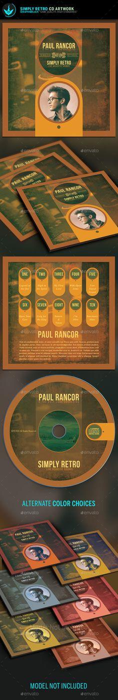 Simply Retro CD Artwork Template