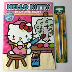 Details about Hello Kitty Paint With Water Coloring Book Crayola Water  Painting Brushes 20de745ed4811