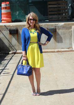 Mix & Match Fashion: cobalt and yellow