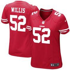 Patrick Willis San Francisco 49ers Nike Women s Game Jersey - Scarlet. RamosPatrick  WillisEquipo San Francisco 49ersCamisetas De FútbolAlimentos ... a9f0ad327b1ea
