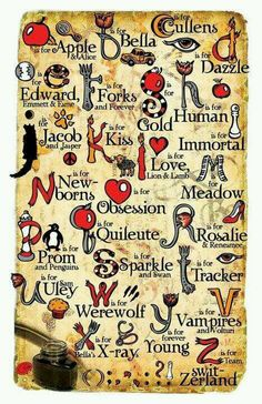 Twilight alphabet - LOVE this!