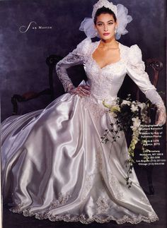 Similar to my one and only wedding gown. Too bad I lost it to a house fire.