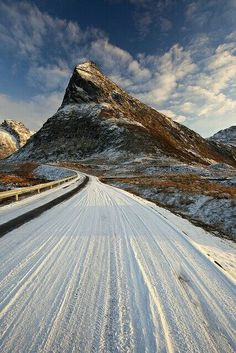 In icy Lofoten, Norway.