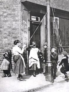 English street children in the 1890s.