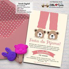 Convite Festa do Pijama para Imprimir Mais