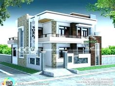 5 Bedroom Contemporary House Views House Design Duplex inside sizing 1500 X 1125 Modern 5 Bedroom House Designs - A bedroom needs to be the coziest corner from the […] 2 Storey House Design, Duplex House Design, House Front Design, Modern House Design, Duplex House Plans, Bedroom House Plans, Modern House Plans, Flat Roof House, Facade House