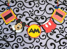 Mickey Mouse I am 1 Banner Deluxe style - coupon tieks Mickey 1st Birthdays, Mickey Mouse Clubhouse Birthday Party, Mickey Mouse 1st Birthday, 1st Birthday Banners, Mickey Y Minnie, Baby Boy 1st Birthday, Mickey Party, 1st Birthday Parties, Birthday Ideas