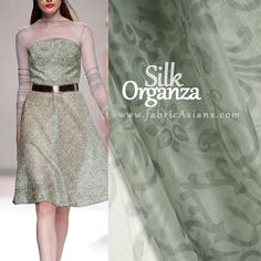 53 SILK Organza Sheer Fabric in Grey Floral by fabricAsians Organza Dress, Silk Organza, Silk Chiffon, Silk Fabric, Trumpet Dress, Fruit Print, Print Chiffon, Sheer Fabrics, Sewing Patterns Free