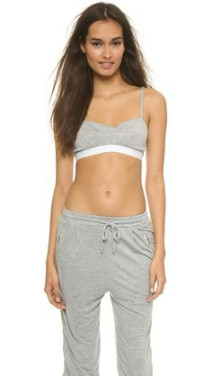 Apres Ramy Brook Ash Bra Top - Heather Grey