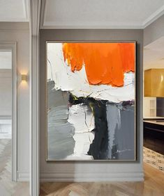 Large Wall Canvas, Abstract Canvas Wall Art, Art Texture, Orange Painting, Modern Wall Art, Contemporary Paintings, Beautiful Paintings, The Originals, Les Oeuvres