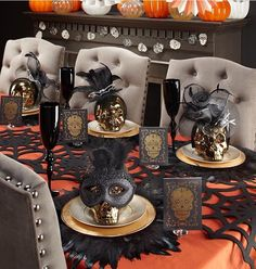 were teaming up with to make your halloween haute take off your entire order at z gallerie and paper source through - Halloween Place Settings
