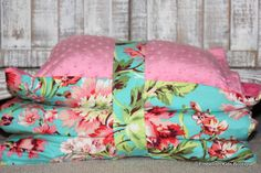 Kinder Nap Mat Cover Amy Butler Bliss and Pink Minky - Ready To Ship