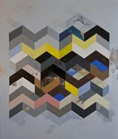 RECONFIGURED GRID PAINTING NO.15 acrylic on canvas / 50x43 / 2011 // Jeff Depner