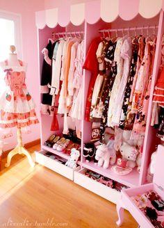 Closet full of kawaii clothes