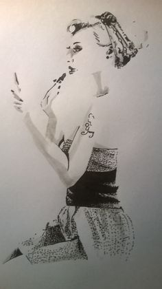 makeup pin-up girl drawing