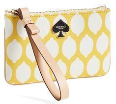 lemon yellow Kate Spade wristlet  http://rstyle.me/n/jj7fdpdpe