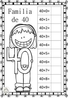 Decimos que dos o más números, con el mismo número de dígitos, son miembros de la misma familia, cuando dos de dichos números tienen al menos un dígito común. Por … Kindergarten Math Worksheets, School Worksheets, Math Activities, First Grade Teachers, 1st Grade Math, School Items, I School, Math Fact Fluency, Classroom Language