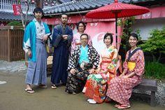 Wearing a costume at Edo Wonderland Nikko Edomura