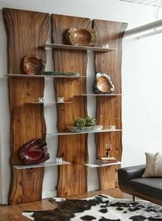 Wall Shelf Made of Suarina Root Wood / Natural Finish / Aluminum Shelves - Rega. - Wall Shelf Made of Suarina Root Wood / Natural Finish / Aluminum Shelves – Regal Holzbohlen – - Home Decor Furniture, Rustic Furniture, Diy Home Decor, Furniture Design, Room Decor, Furniture Ideas, Natural Wood Furniture, Rustic Wood Decor, Modern Furniture
