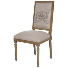 Louis Natural Linen Graphic Side Chair ZENFC0104E2553A0039 #laylagrayce