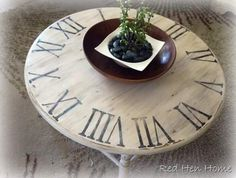 Now I just need to find a old round coffee table so that I can do this.