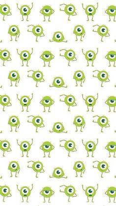 [人気キャラ大盛り]モンスターズインク2 iPhone壁紙 Wallpaper Backgrounds iPhone6/6S and Plus Monsters Inc. Pattern iPhone Wallpaper