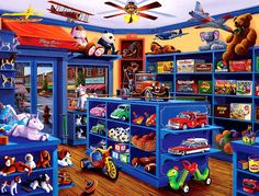 Mary Lee, Scenery Background, Christmas Tree With Gifts, Kids Zone, Toy Trucks, Retro Toys, New Year Gifts, Toys Shop, Art Pages