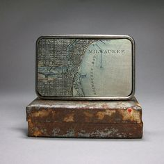 Belt Buckle Milwaukee Wisconsin Vintage Map by decembermoondesign, $33.00