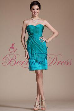 2014 Stylish Sweetheart Straight Knee-Length Sea Blue Chiffon Flower Cocktail Dresses Vestido Reveillon Curto Dress Women Party