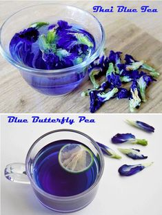 Dried Blue Butterfly Pea Flowers Magical by on Etsy Butterfly Pea Flower Tea, Blue Butterfly, Medicinal Honey, Blue Juice, Tea Cocktails, Edible Flowers, Food Coloring, Drinking Tea, Dried Flowers