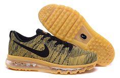 Cheap Nike Flyknit Air Max Mens Gold Black,www.freerundistance.com
