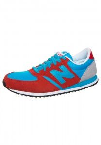 Cheap Online New Balance U 420 Trainers Unisex Red Deep Sky Blue Wolf Grey Colorways