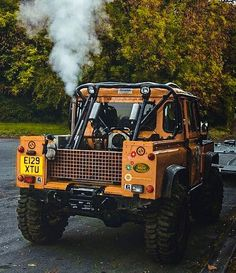 Land Rover Defender 90 pickup truck in yellow Land Rover Series 3, Land Rover Defender 110, Defender 90, Landrover Defender, Jeep 4x4, Jeep Truck, Pickup Trucks, Offroader, Bug Out Vehicle