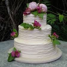Image result for cream wedding cake
